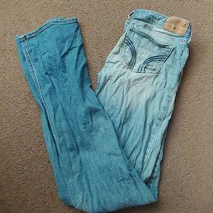 Hollister size 0R light wash bootcut jeans